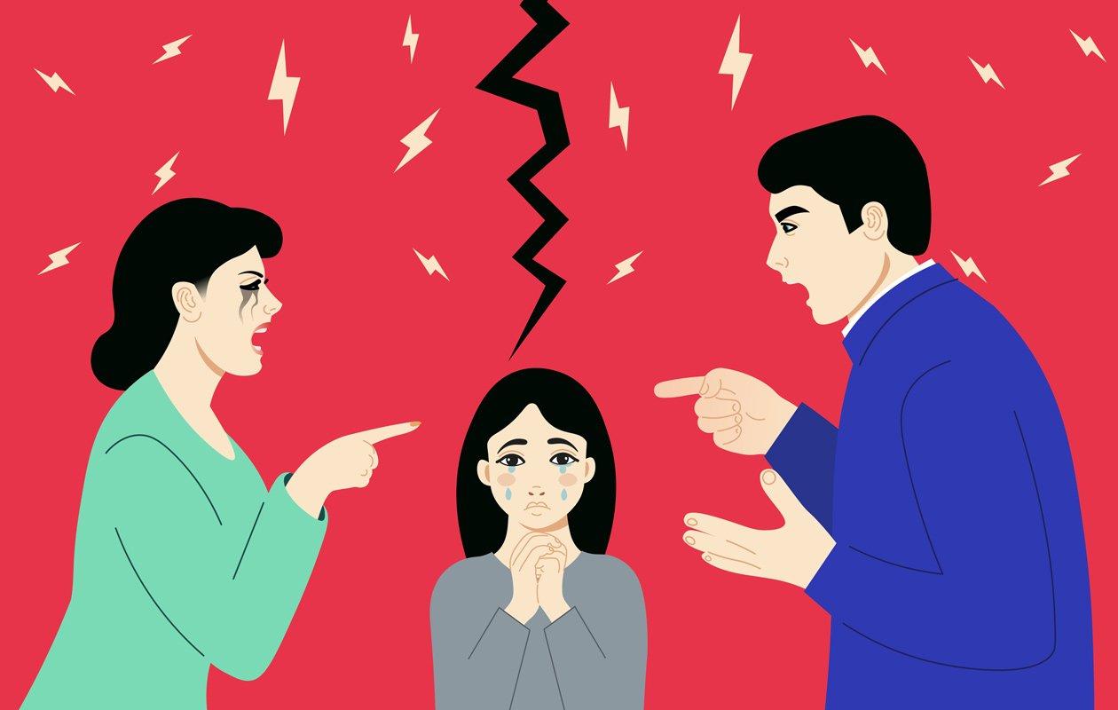 kłótnia między rodzicami